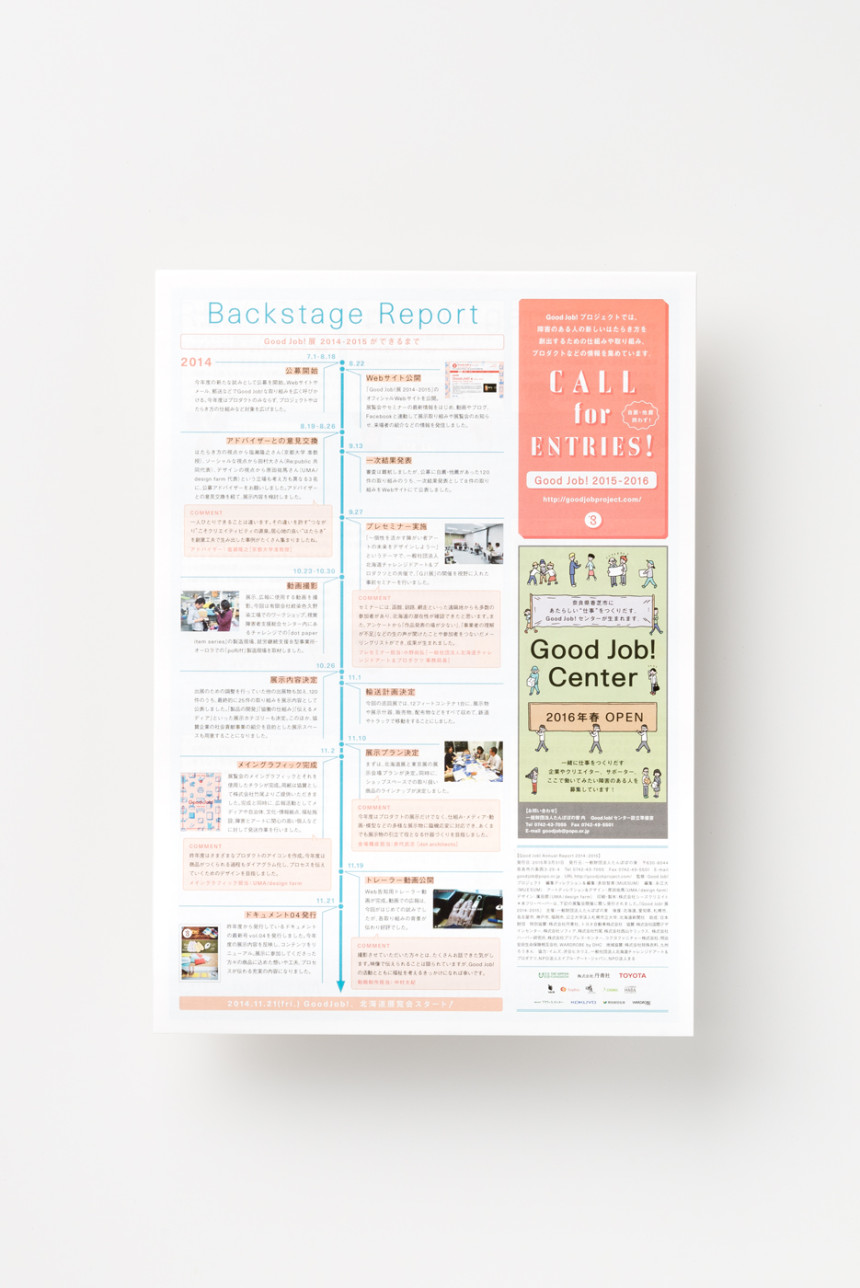 Good Job! ANNUAL REPORT 2014 – 2015